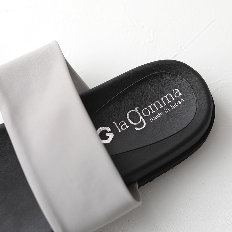 la gomma|トングサンダル サテンストレッチ light gray