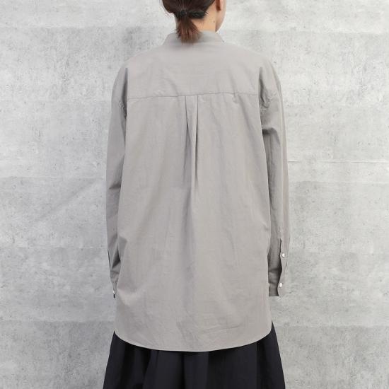 HUIS オーガニックコットンビッグシャツ Light gray【ユニセックス】
