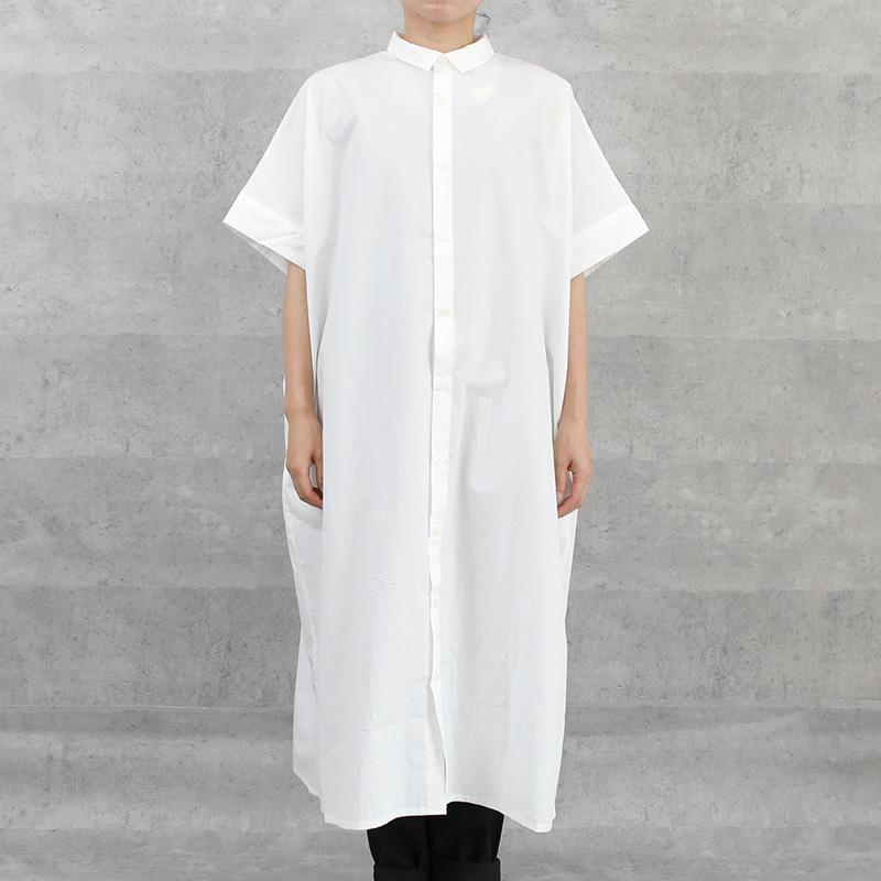 HUIS|タイプライタークロスショートスリーブロングシャツ white【ユニセックス】