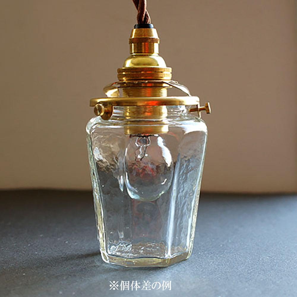 安土草多|ペンダントライト [E17] 八角瓶 大