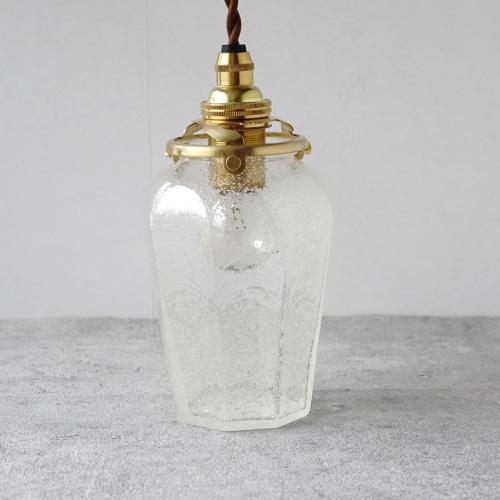 安土草多|ペンダントライト [E17] 八角瓶 大 泡