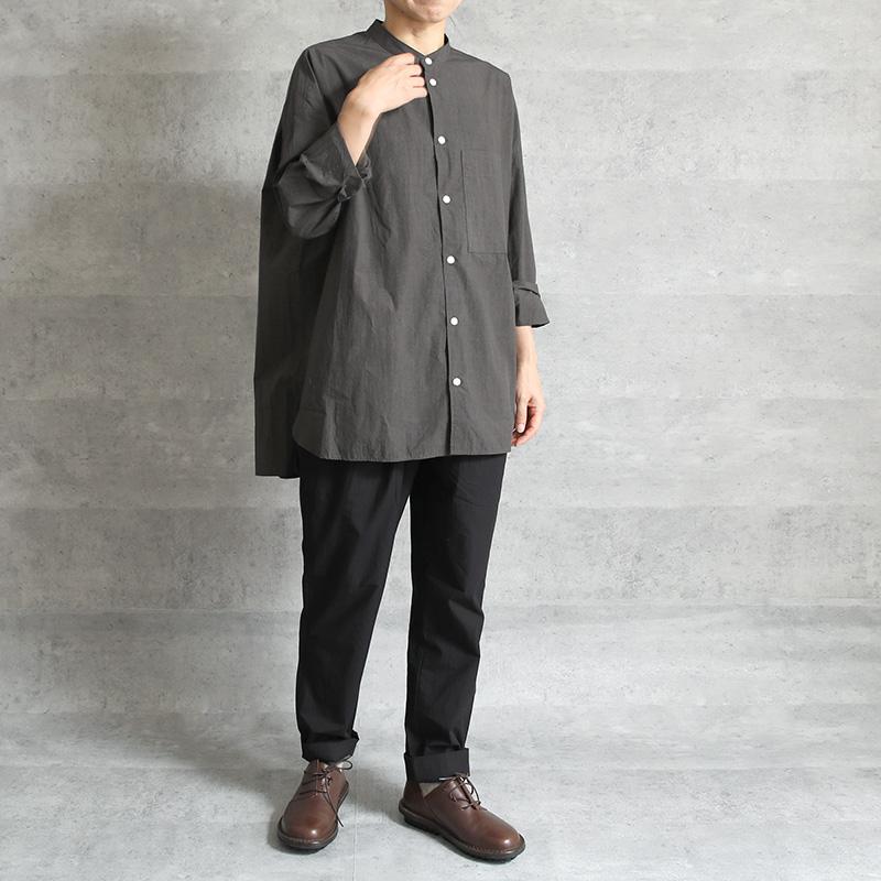 HUIS タイプライタークロスバンドカラーオーバーシャツ gray【ユニセックス】