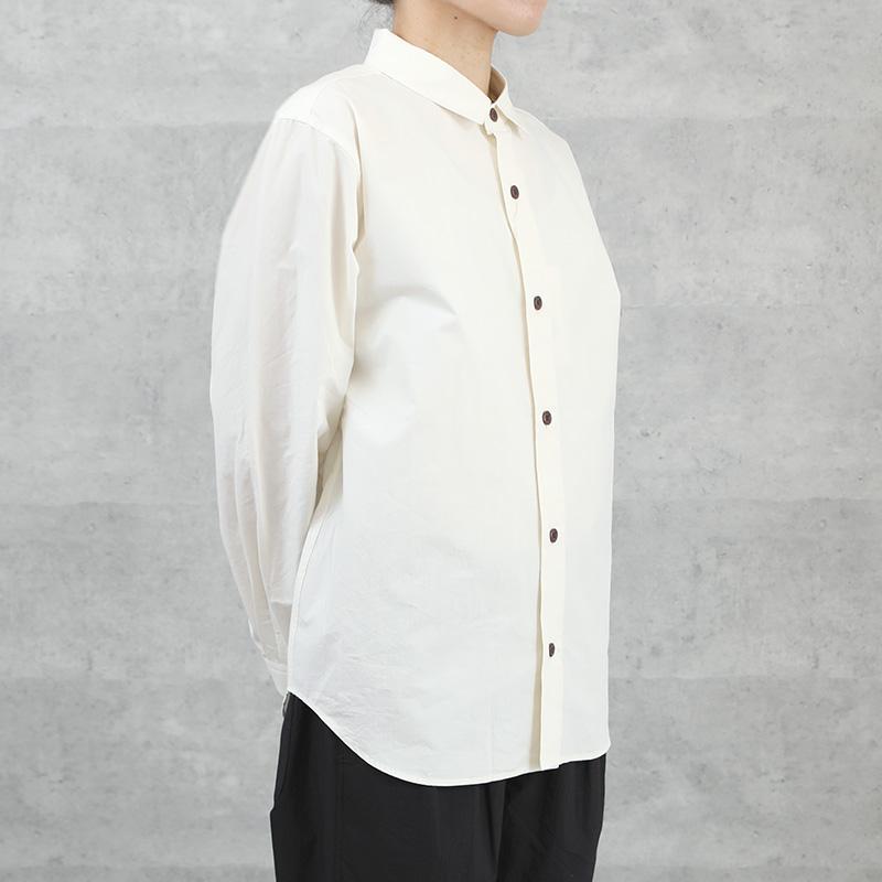 HUIS オーガニックコットンオーバーシャツ ivory【ユニセックス】