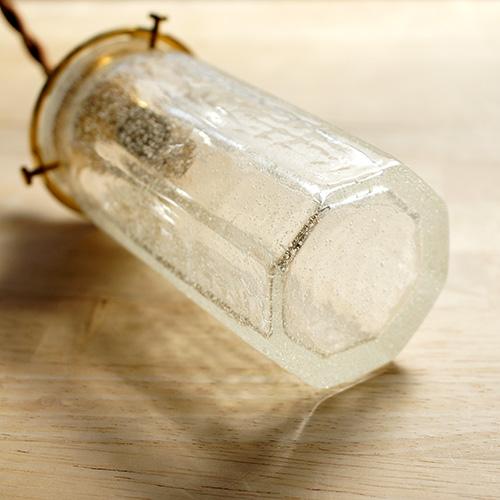 安土草多|ペンダントライト [E17] 八角筒瓶 細 泡