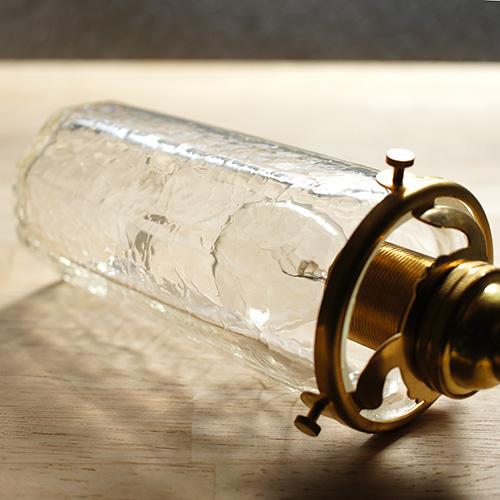 安土草多|ペンダントライト [E17] 八角筒瓶 細 クラック
