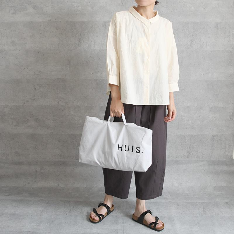 HUIS|8分袖コードレーンワイドブラウス きなり