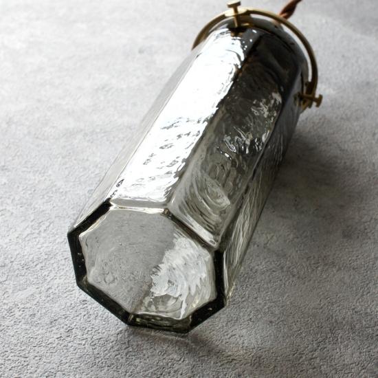 安土草多 ペンダントライト [E17] 八角細筒瓶 墨透き被せ