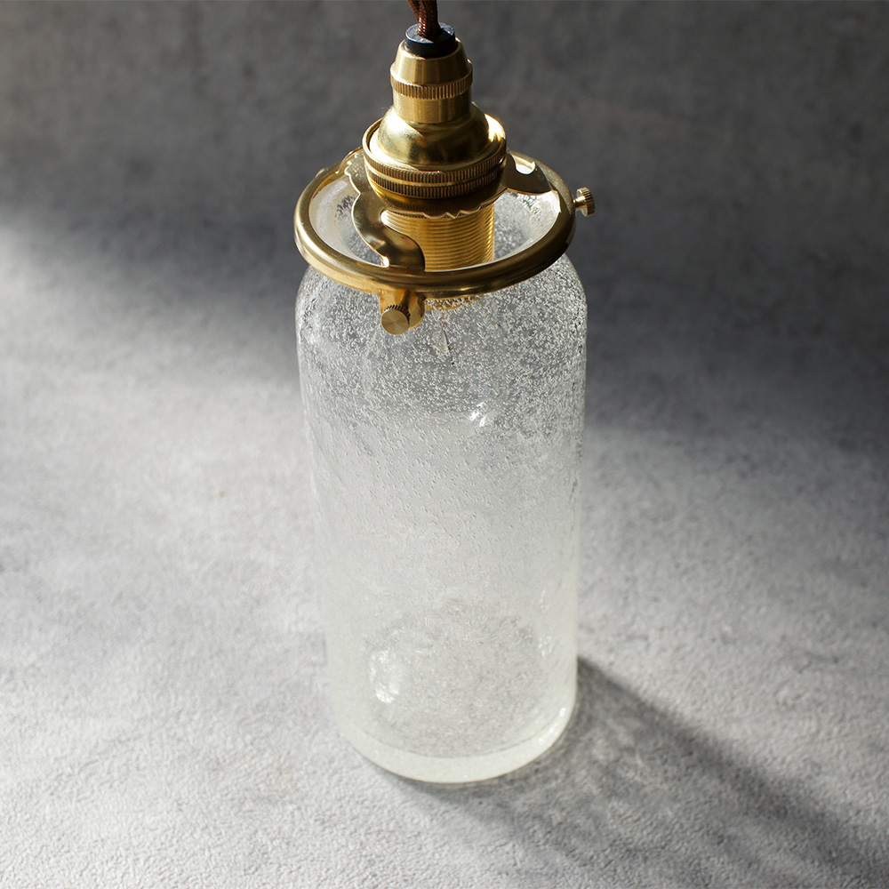 安土草多 ペンダントライト [E17] 筒瓶 ロング 泡