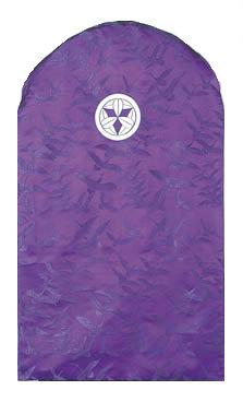 ドレッサーカバー 西陣織(家紋なし)地紋織 赤/紫【受注生産】 鏡掛け 姿見 ミラーカバー おしゃれ 受註生産 汚れ防止 日本製