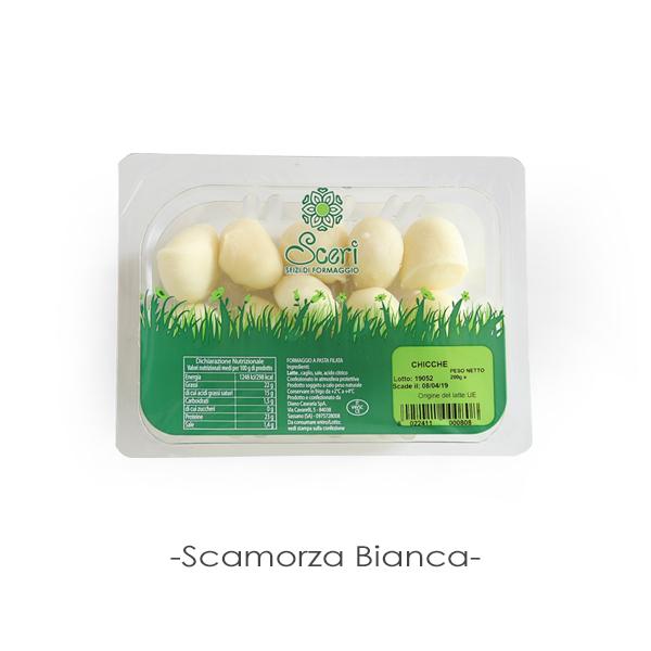 スカモルツァ ビアンカ 伸びるチーズ モッツァレッラ 200g フレッシュ イタリア 空輸 チーズ