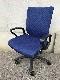 オフィスチェア 肘付 青色/事務椅子