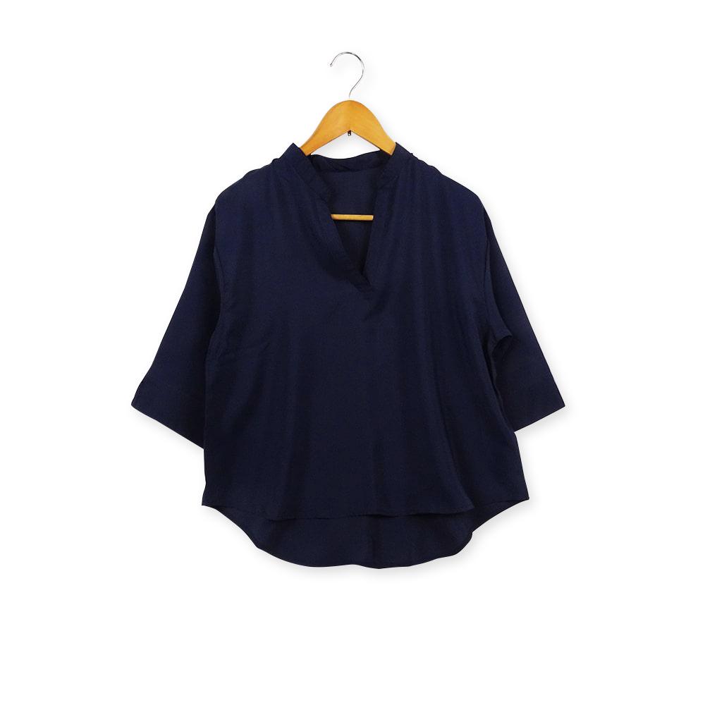 ノーカラースキッパーシャツ