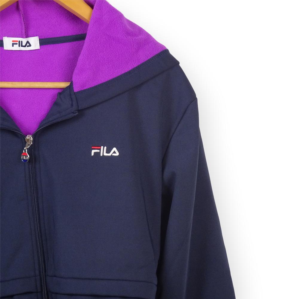〈FILA〉防風ロングパーカー