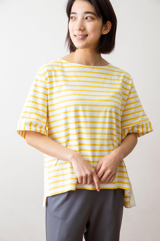 サイドライン切替Tシャツ