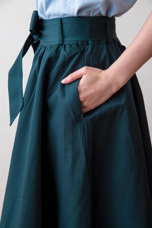 レース使いウエストリボン付スカート