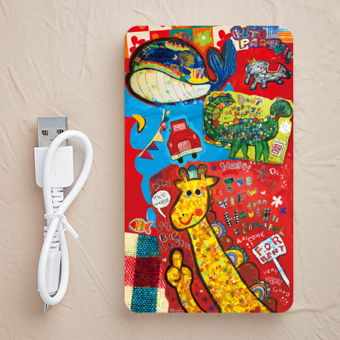 【充電器】patchwork animals