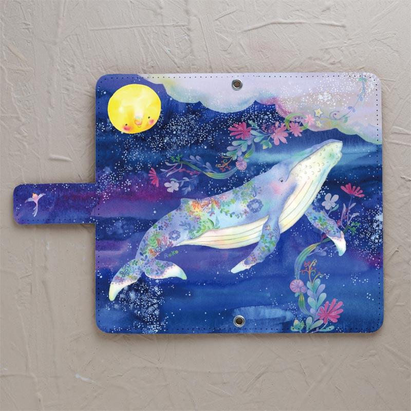 【手帳型】空を飛ぶクジラ