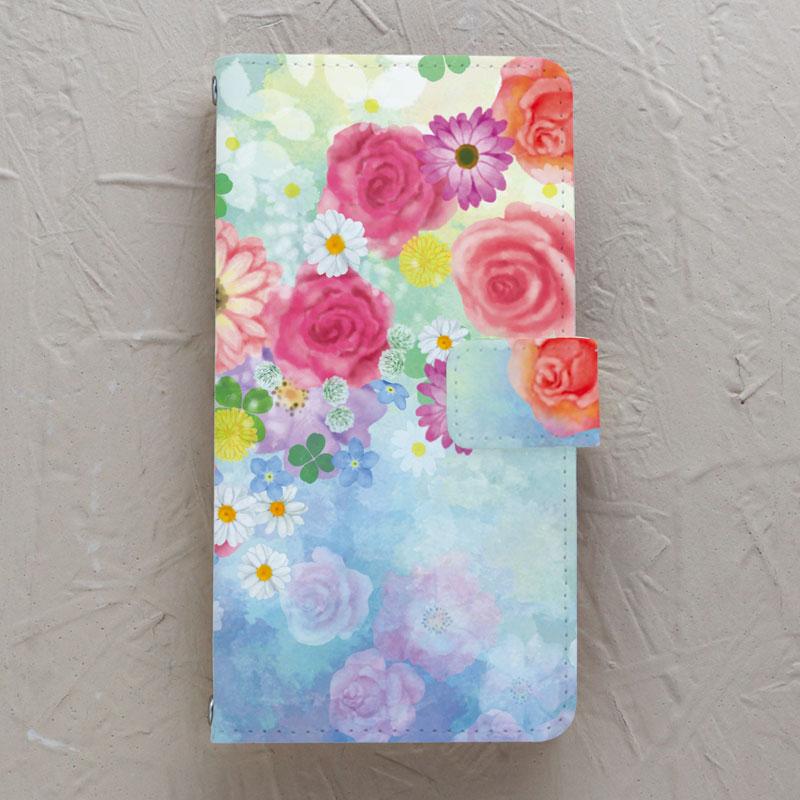 【手帳型】flowers