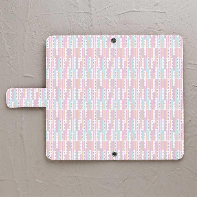 【鏡付き手帳型】しだれ桜ピンク