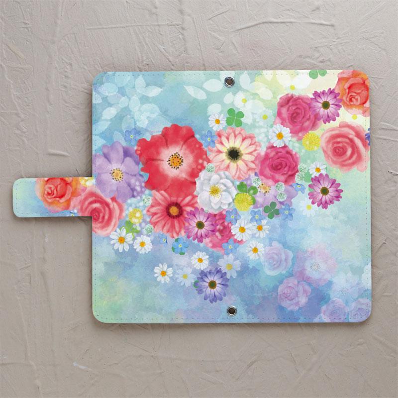 【鏡付き手帳型】flowers