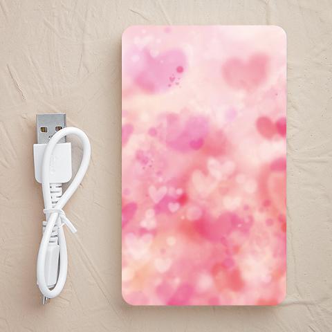 【充電器】ふわふわのハート(ピンク)