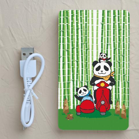 【充電器】パンダと竹林