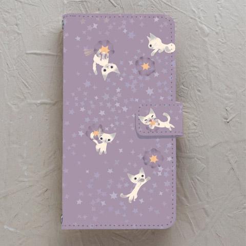 【手帳型】願い星とネコ シャム
