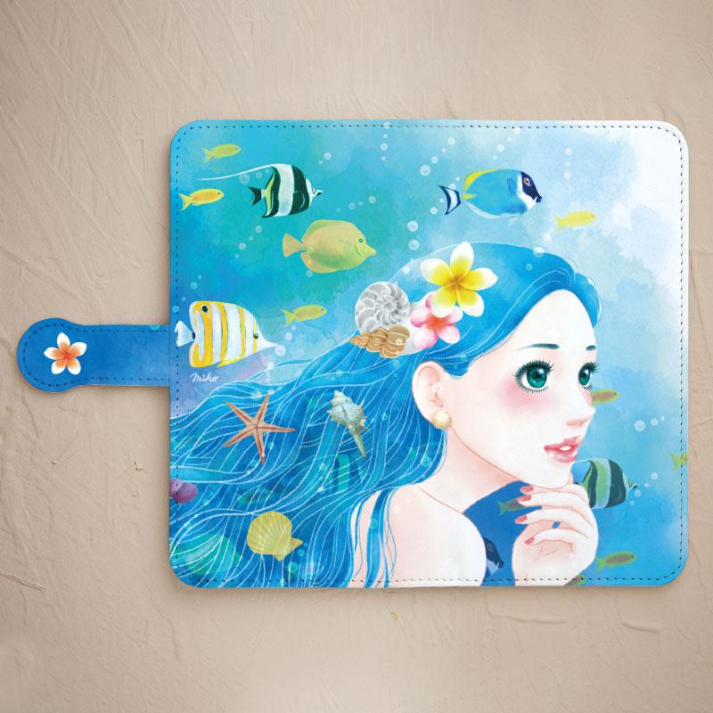 【鏡付き手帳型】Mermaid