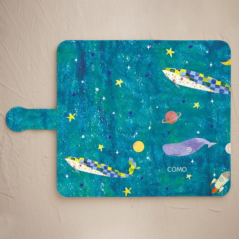 【手帳型】クジラ