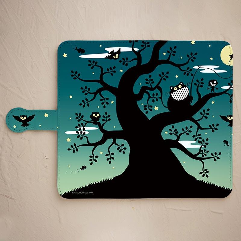 【手帳型】梟の木