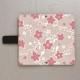 【鏡付き手帳型】優しいシックな花柄 ピンク系