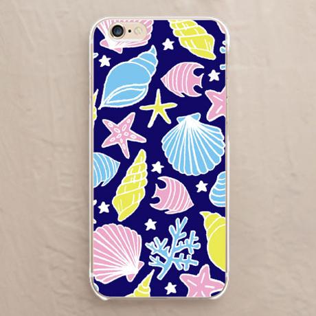 【カバー】海と貝殻(カラフルネイビー)