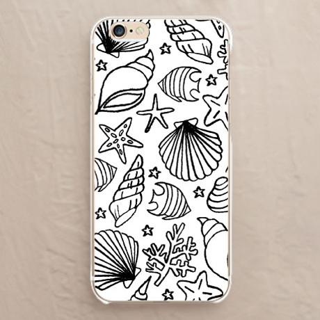 【カバー】海と貝殻(モノクロ)