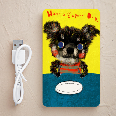 【充電器】Black-chihuahua(チワワ)