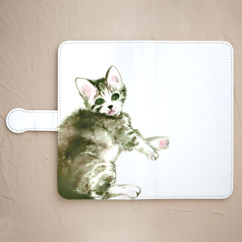 【鏡付き手帳型】仔猫