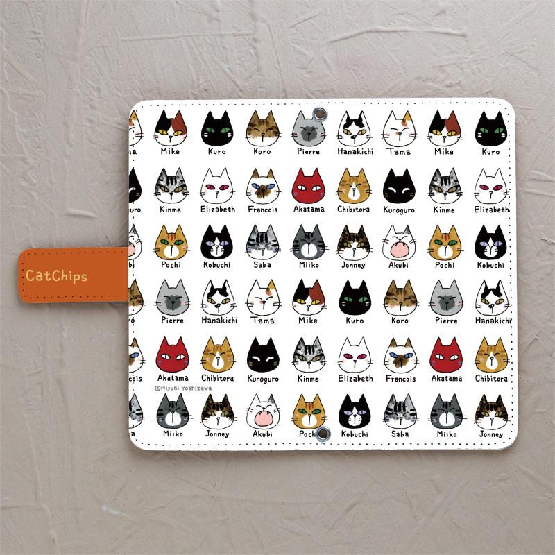 【鏡付き手帳型】CatChips