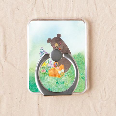 【スマホリング】りんごとクマ