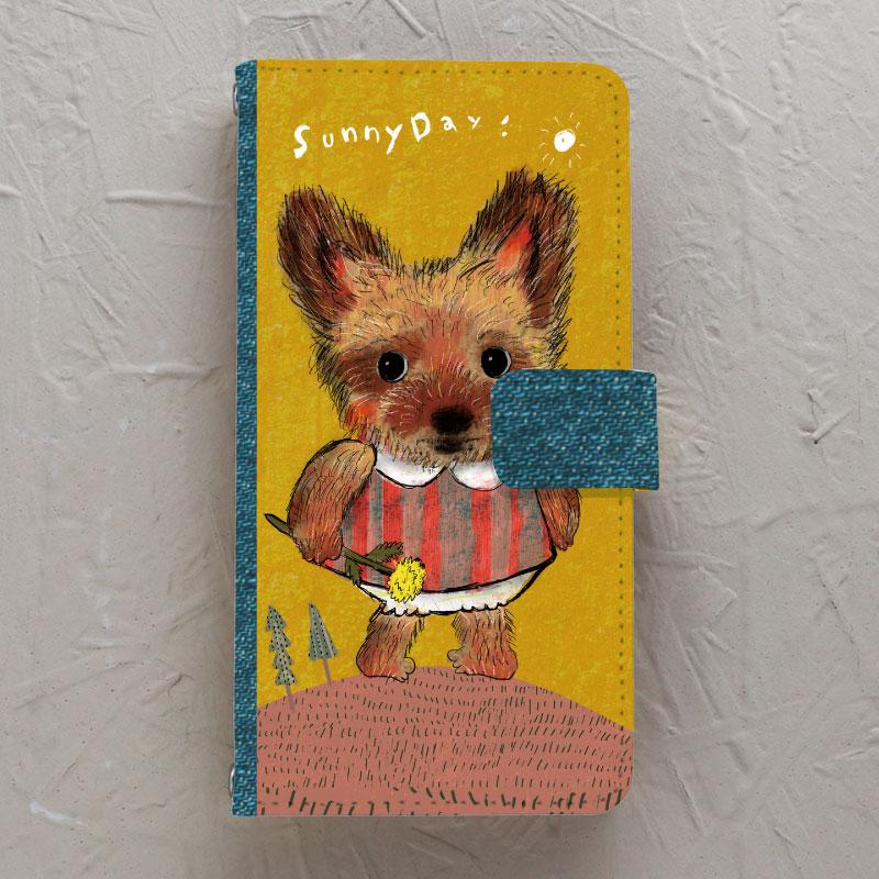 【手帳型】Yorkshire-terrier-girl(ヨークシャーテリア)
