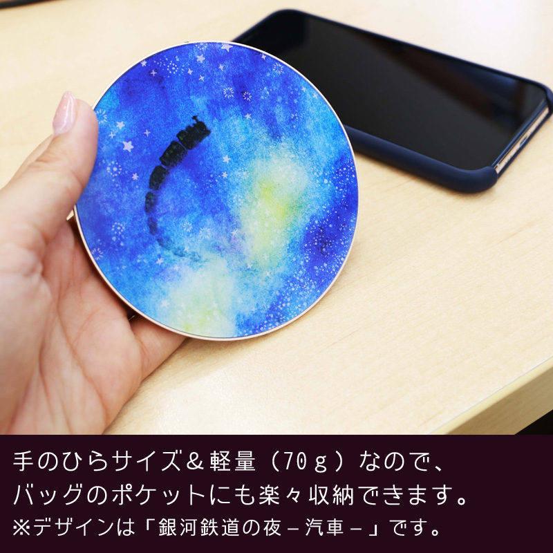 【ワイヤレス充電器】POWER - 鹿3・ピンク
