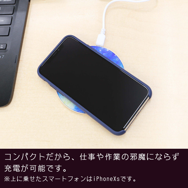 【ワイヤレス充電器】POWER - 鹿1・グレー
