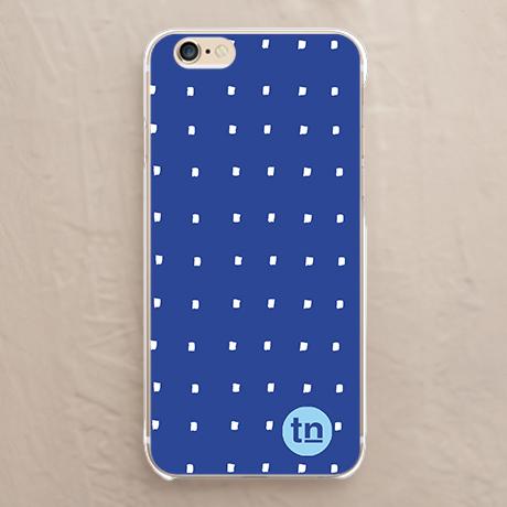【カバー】四角ドット柄 ブルー