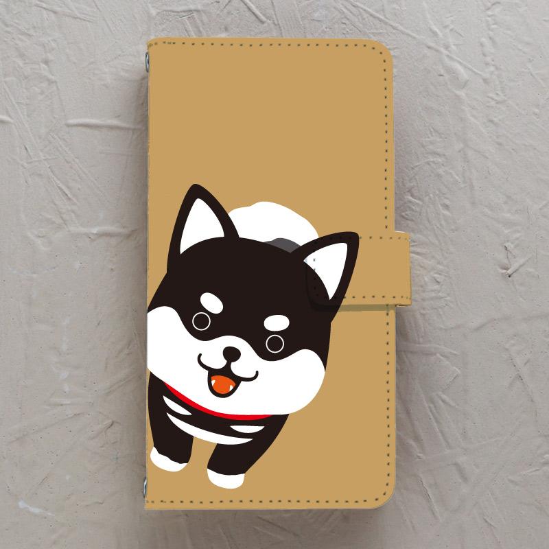【手帳型】柴犬黒柴