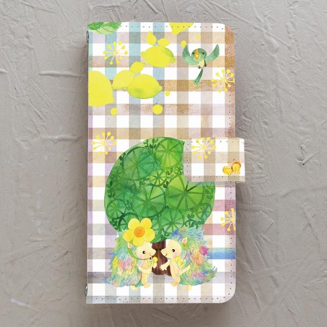 【手帳型】レモン