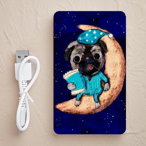 【充電器】moon-pug(パグ)