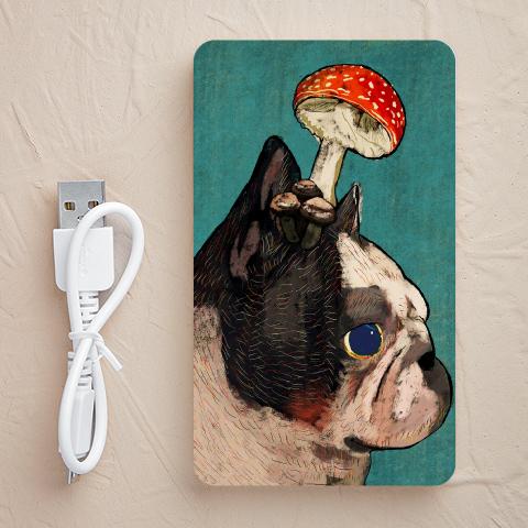 【充電器】Mushroom-French-Bulldog(フレンチブルドッグ)
