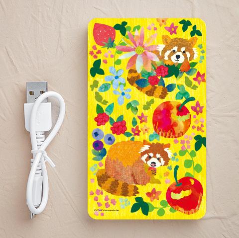 【充電器】フルーツとレッサーパンダ