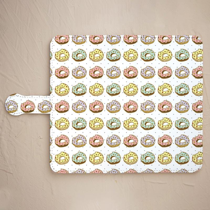 【鏡付き手帳型】食べかけドーナツ
