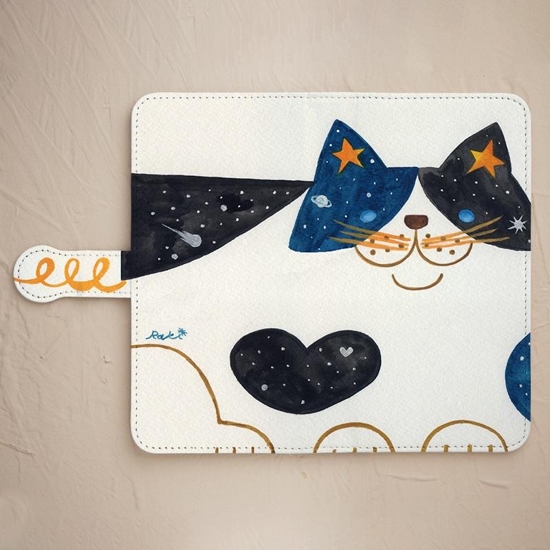【手帳型】宇宙猫