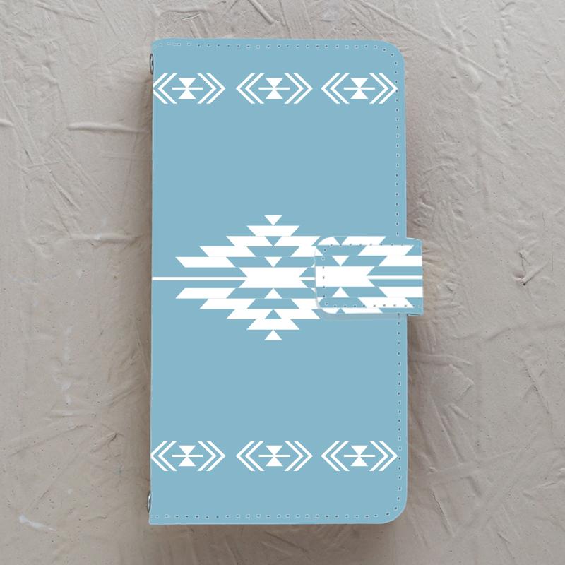 【手帳型】native5 天空ブルー