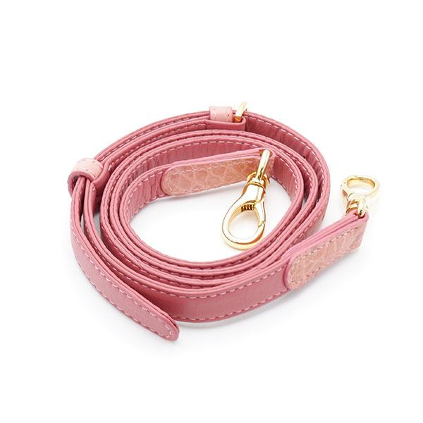 クロコダイル1本手コキーユバッグ ピンク